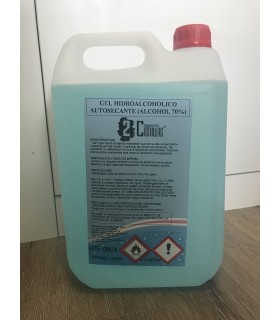 Comprar Gel HIDROALCOHOLICO 5L. para desinfección de manos. Especial coronavirus
