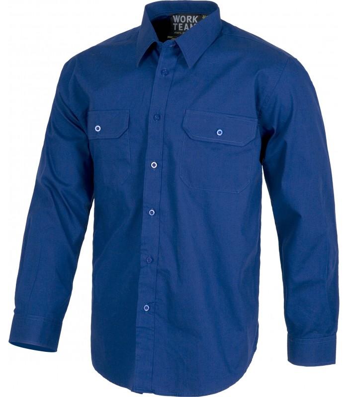 Camisa B8200 de manga larga con cierre de botones
