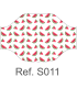 Mascarilla 120009S Estampada REUTILIZABLE de doble capa y lavable a 60º. Eurosaboy