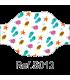 Mascarilla 120012S estampada para niños REUTILIZABLE de pliegues y lavable a 60º. Eurosaboy