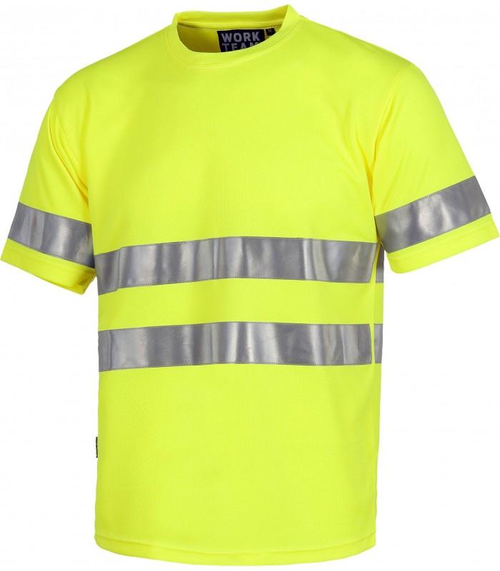 Camiseta C3945 de manga corta Alta Visibilidad. Sin bolsillos.