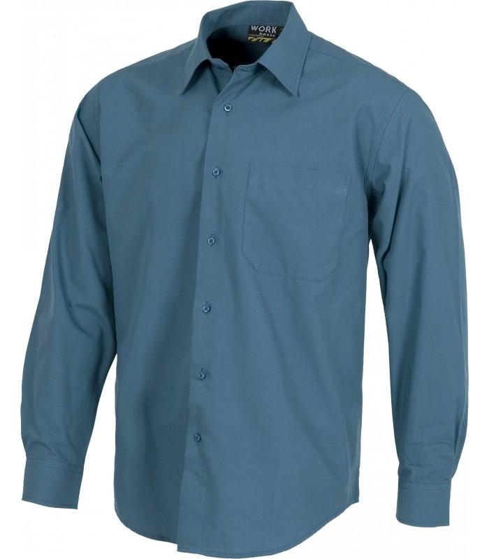 Camisa B8000 de manga larga con cierre de botones