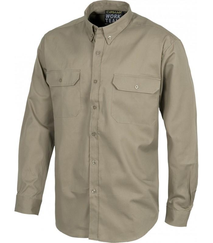 Camisa B8300 de manga larga con ciere de botones