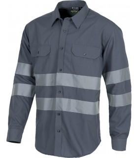 Camisa B8007 Reflectante de manga larga con cierre de botones. Workteam