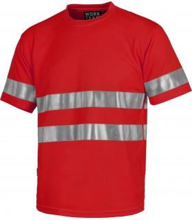 Comprar Camiseta C3939 de manga corta. Cuello redondo. Tiras reflectantes. Workteam
