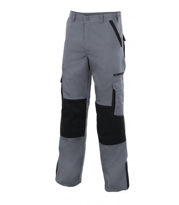 Pantalón PLOMO bicolor multibolsillos con refuerzo. Velilla