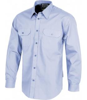 Comprar Camisa B8001 de manga larga. Bolsillos de plastón. Workteam