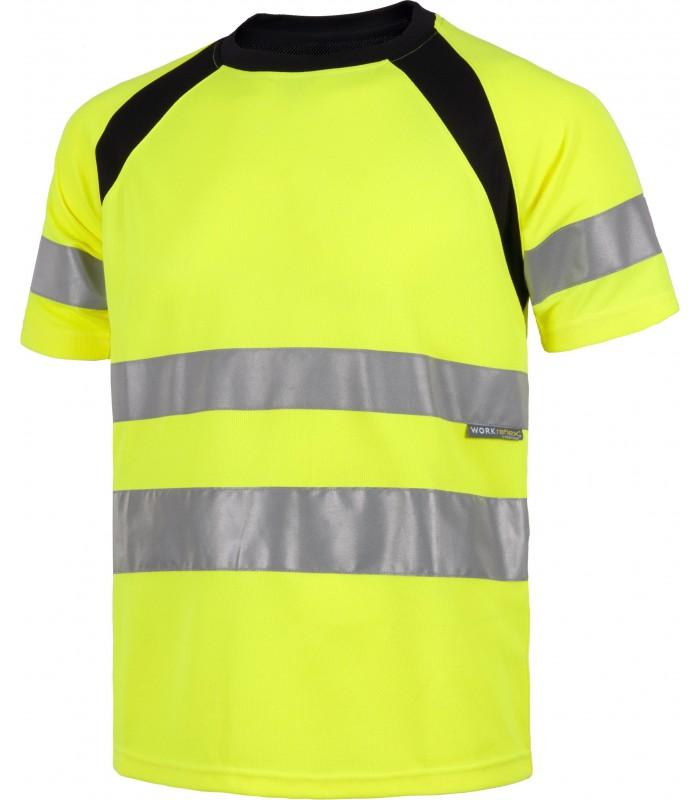 Camiseta C2941 de manga corta Alta Visibilidad. Sin bolsillos. Workteam