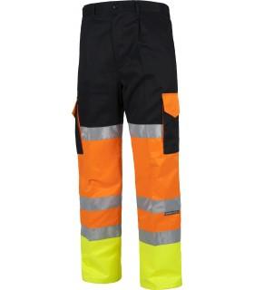 Comprar Pantalón C3216 tricolor, multibolsillos. Alta visibilidad. Bandas reflectantes. Workteam
