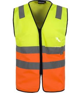 Comprar Chaleco C3616 bicolor de Alta Visibilidad. Cintas reflectantes. Workteam.