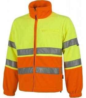 Comprar Polar C4026 bicolor de Alta Visibilidad. Cintas reflectantes. Workteam.