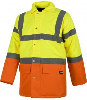 Comprar Parka C3716 bicolor de Alta Visibilidad. Cintas reflectantes. Workteam.