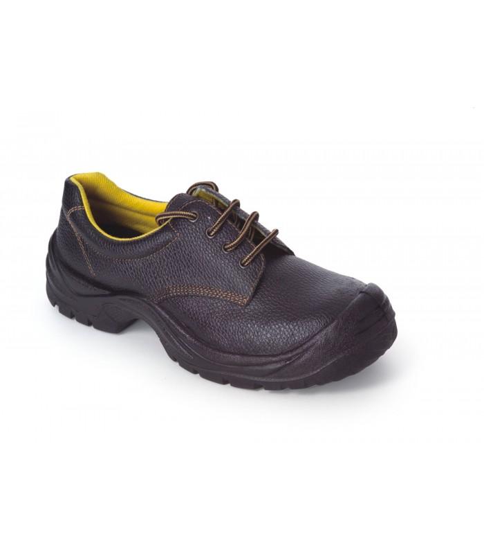 Work Team Zapato de Piel hidrofugado con Cordones. Suela PU bidensidad. Puntera y Plantilla de ACERO. Hombre Negro 42 n0u3xO