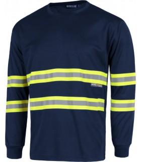 Comprar Camiseta C3937 alta visibilidad. Manga larga Workteam. zoom 0cd8204d509eb